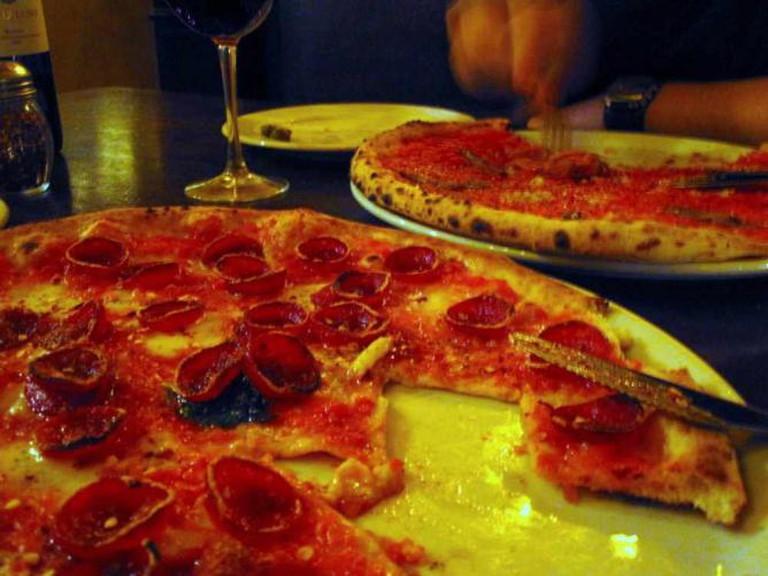 Pizza at Via Tribunali