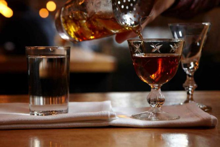 Drink making cocktail