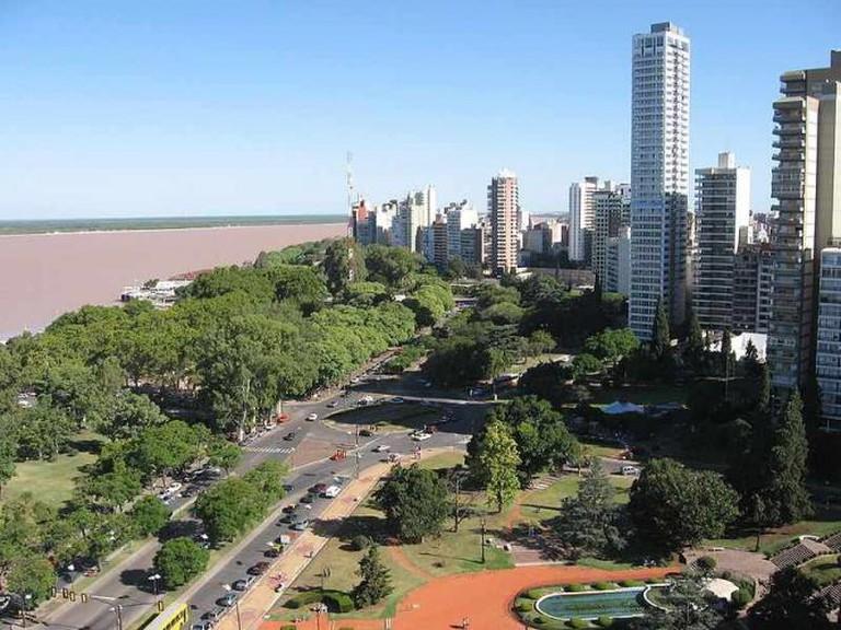 Rosario and the river Paraná | Ⓒ Belgrano/WikiCommons