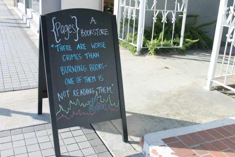 Quoting Ray Bradbury outside Pages: A Bookstore | © Jillianne Joy Lengson