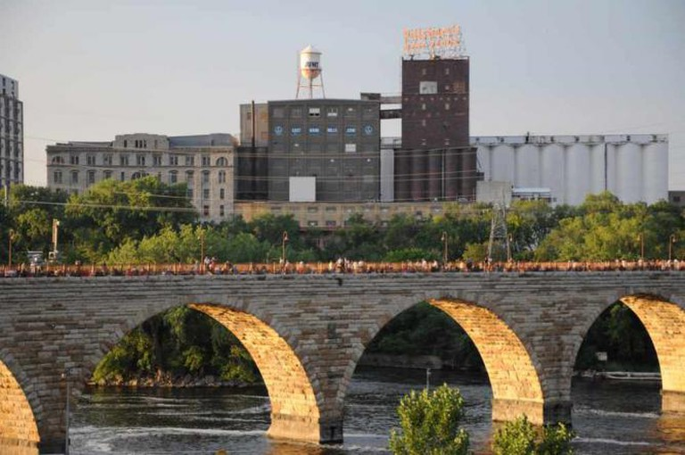 Pillsbury A Mill and Stone Arch Bridge