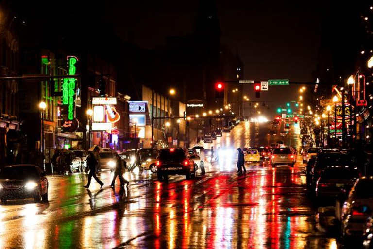 Music City by night | © Thomas Hawk/Flickr
