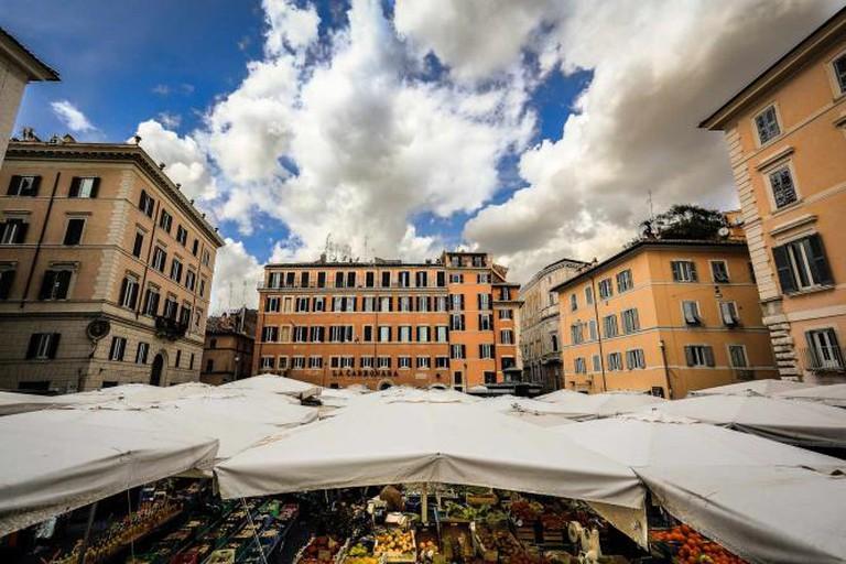 Campo de' Fiori with its market