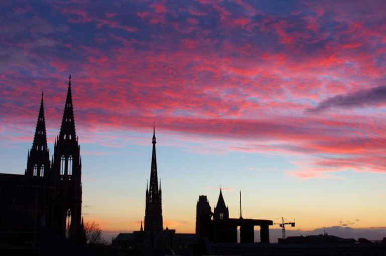 Sunset on Rouen Cathedral