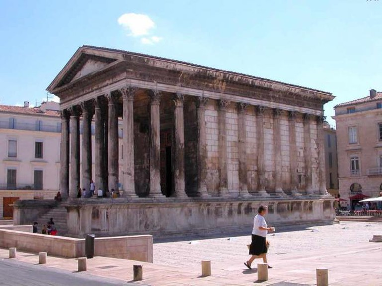 View of the Maison Carrée