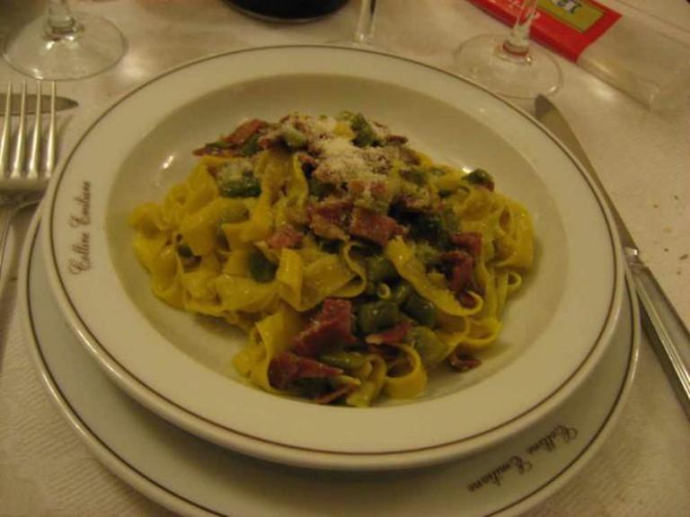 Pasta dish at Colline Emiliane