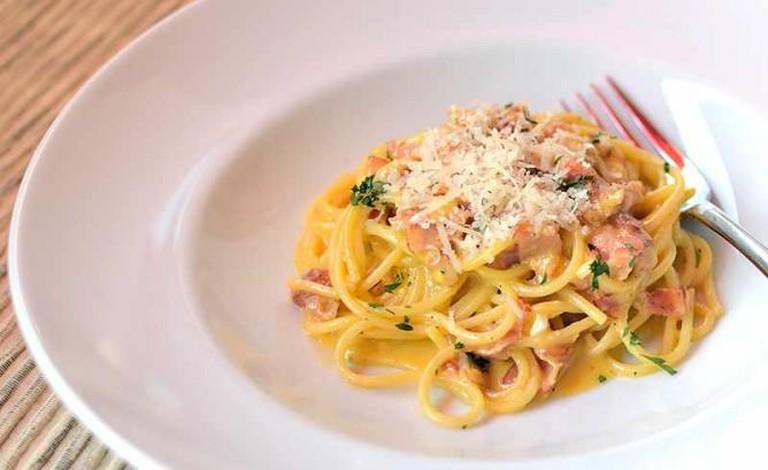 Spaghetti alla carbonara, a popular Italian dish | © bissigbc/Flickr