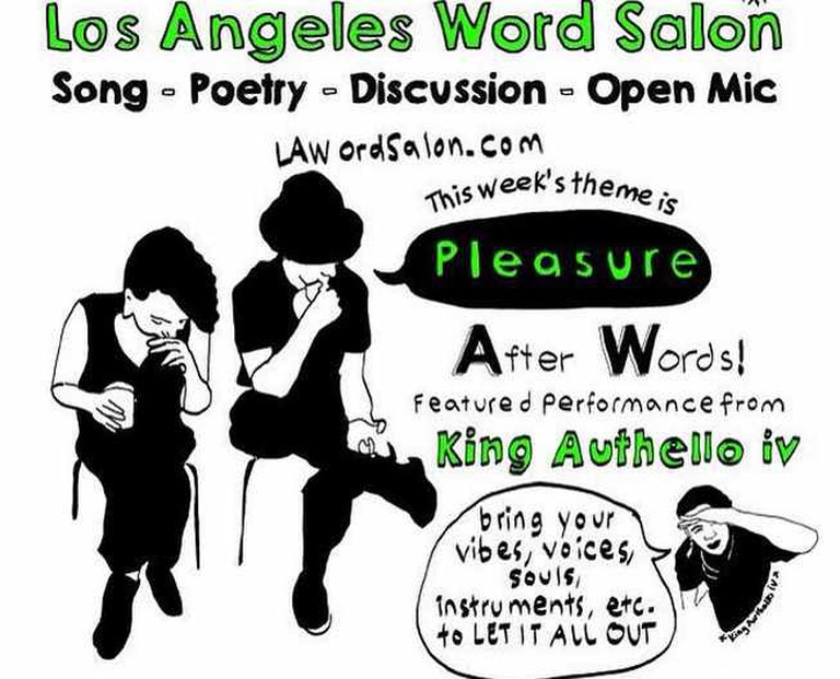 Los Angeles Word Salon Weekly Flyer   © losangeleswordsalon