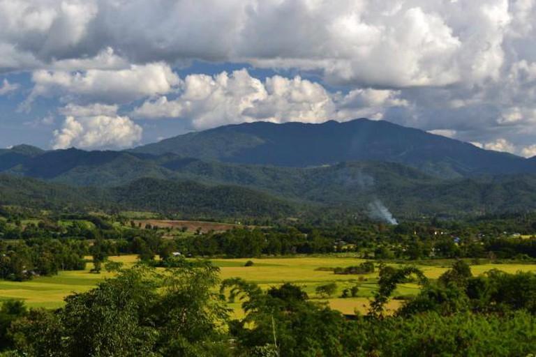 Mountain view of Pai