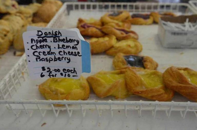 Danish pastries @ Wolfe Island Bakery