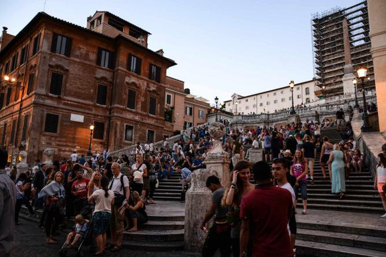 The famous Spanish Steps in Piazza di Spagna