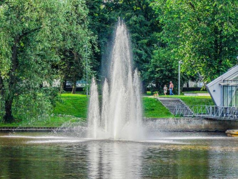 The fountain in Kronvalda Park