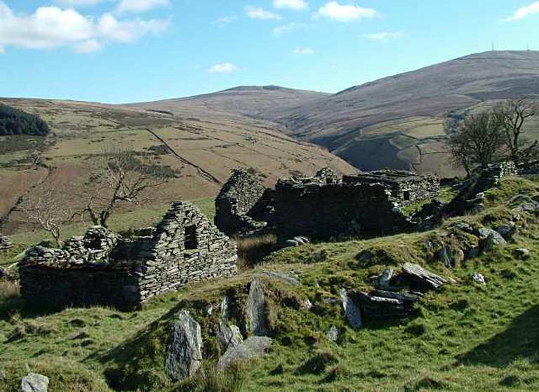 The upland slopes of the Isle of Man
