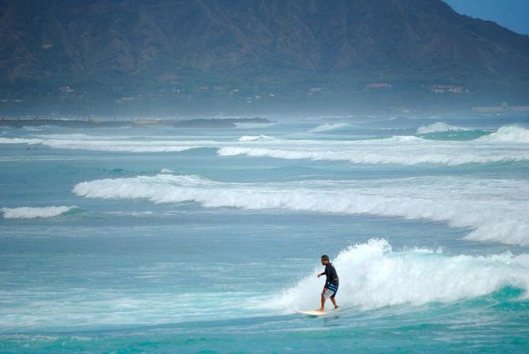 Surfing during the South Swell