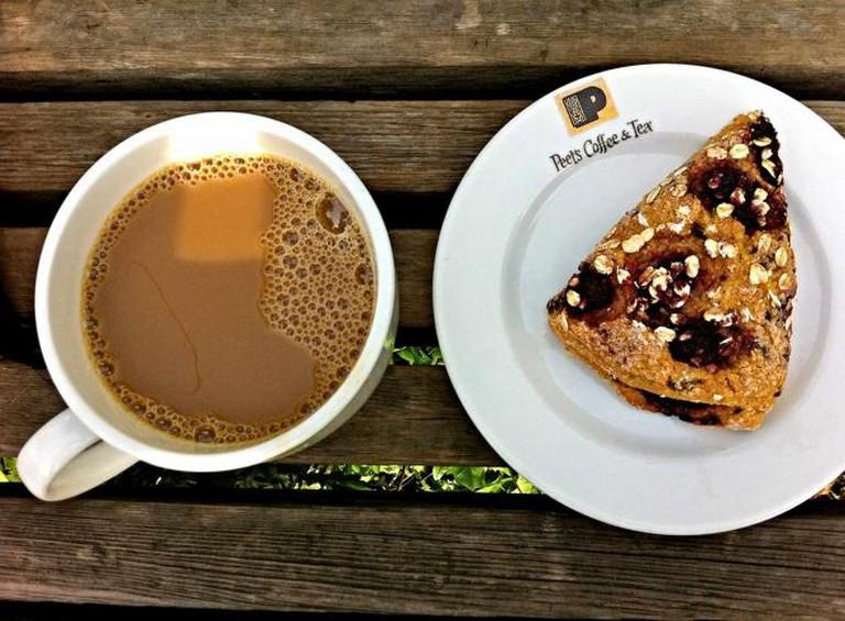 A Peet's Coffee and Scone   ©PremshreePillai/flickr
