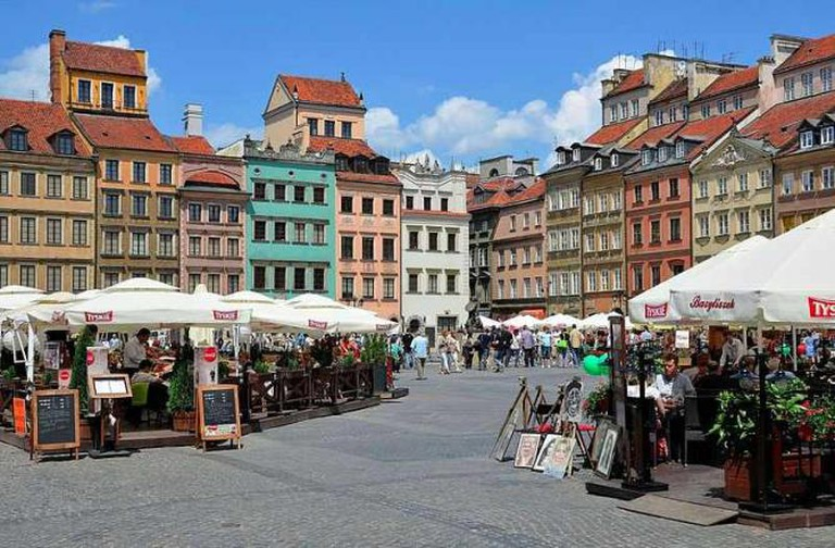 Warsaw's Old Town Square | © Adrian Grycuk/WikiCommons