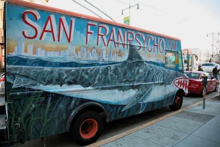 San Franpsycho: killer shark mobile | © Torbakhopper/Flickr