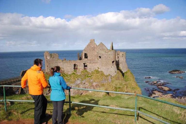 Dunluce Castle on the Causeway Coast Way | © WalkNI.com