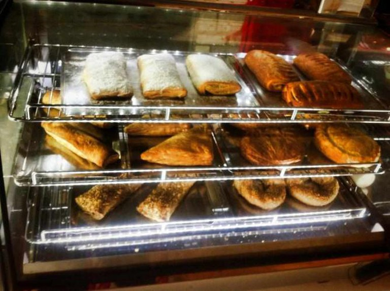 The famous 'bougatsa' and a variety of pies and bagels | Courtesy of Street Bakery Cafe