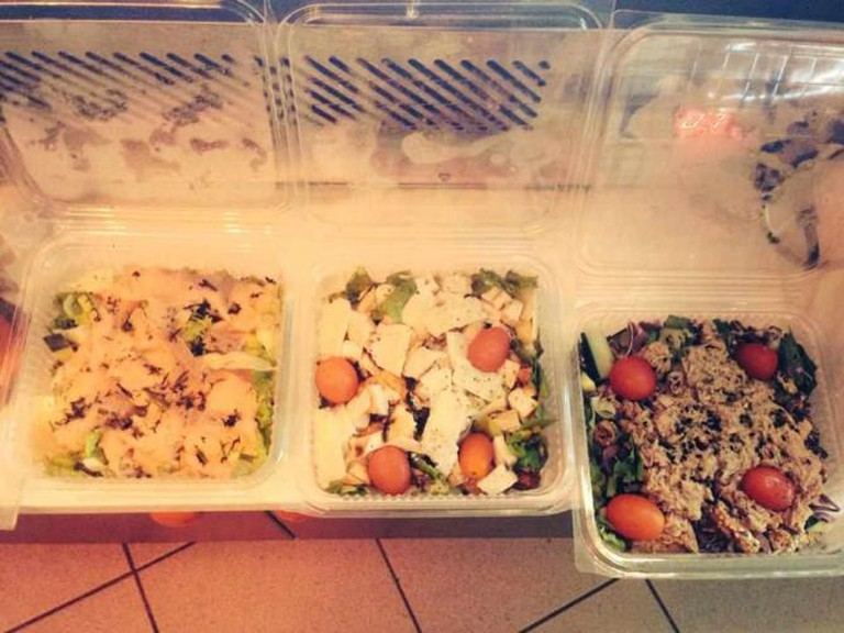 Salads with chicken and tuna | Courtesy of Street Bakery Cafe