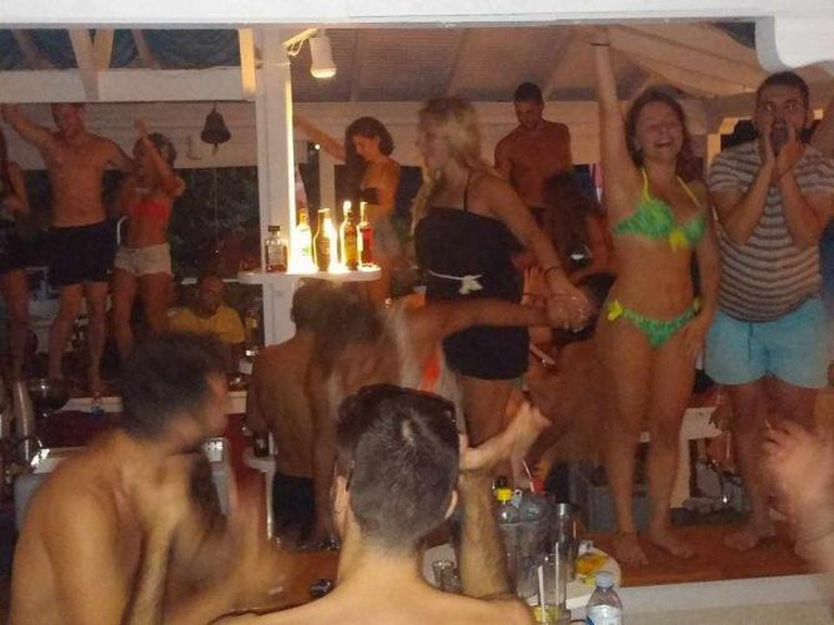 Wild dancing at Almyra | Courtesy of Almyra Beach Bar