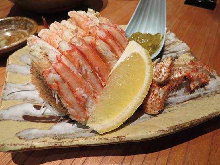crab and shrimp
