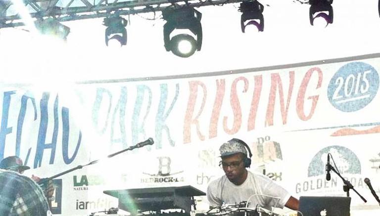 Echo Park Rising 2015 - J Rocc at Liberty Main Stage   ©SagaciousEyelashes