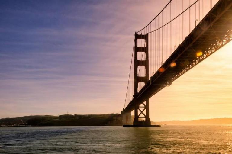 Golden Gate Bridge at sunset | © Eric Kilby/Flickr