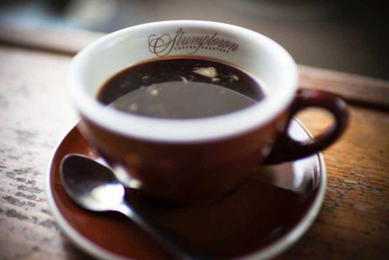 An espresso made from Stumptown beans like the ones served at Bodhi coffee.