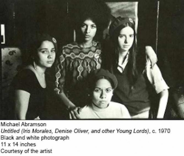 Untitled, Iris Morales, Denise Oliver, and other Young Lords, c. 1970 | © Michael Abramson
