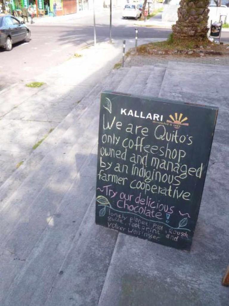 Outside the The Kallari Café   © David Berkowitz/Flickr
