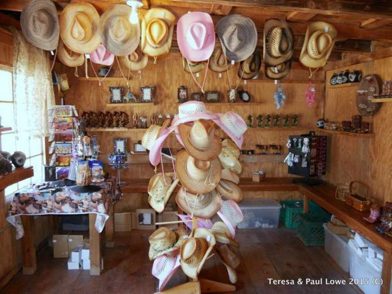 Take a look in the Rustic shop at the Grand Canyon Western Ranch.