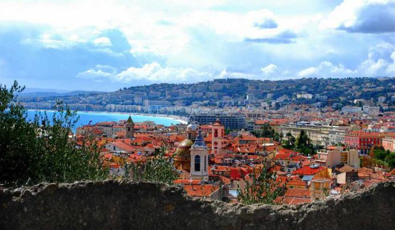 View of Nice from château