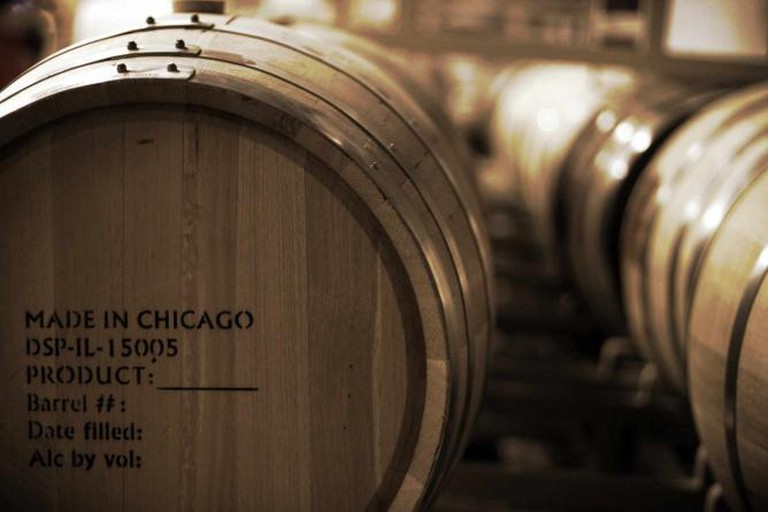 The aged barrels at the Ravenswood area Koval Distillery in Chicago.