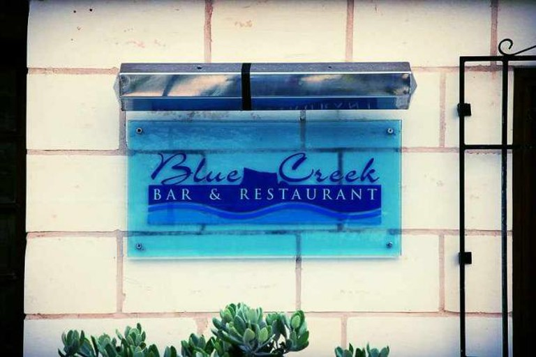 Blue Creek sign