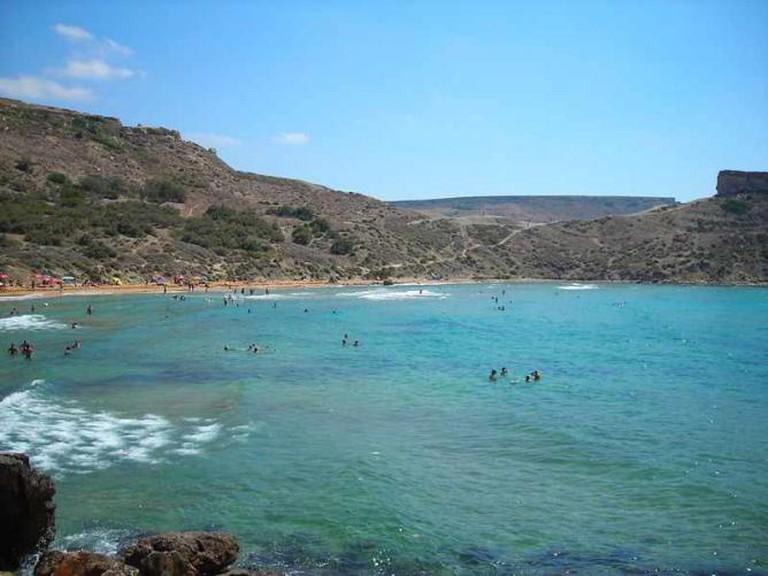 The sea at Għajn Tuffieħa Bay