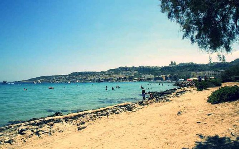 The view from Mellieha Bay