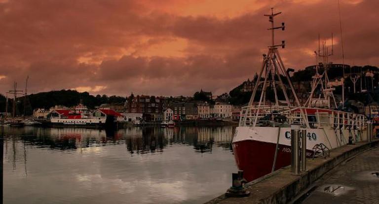 Oban Harbour at Dawn