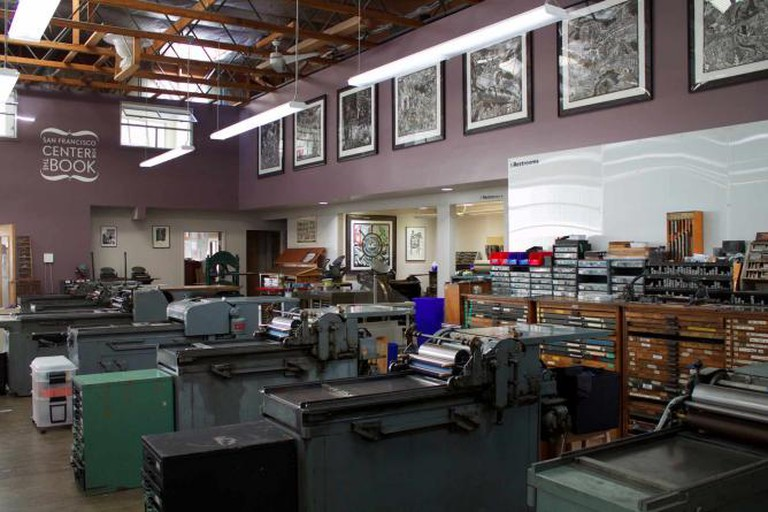 Main studio at the San Francisco Center for the Book | © Megan Cosgrove