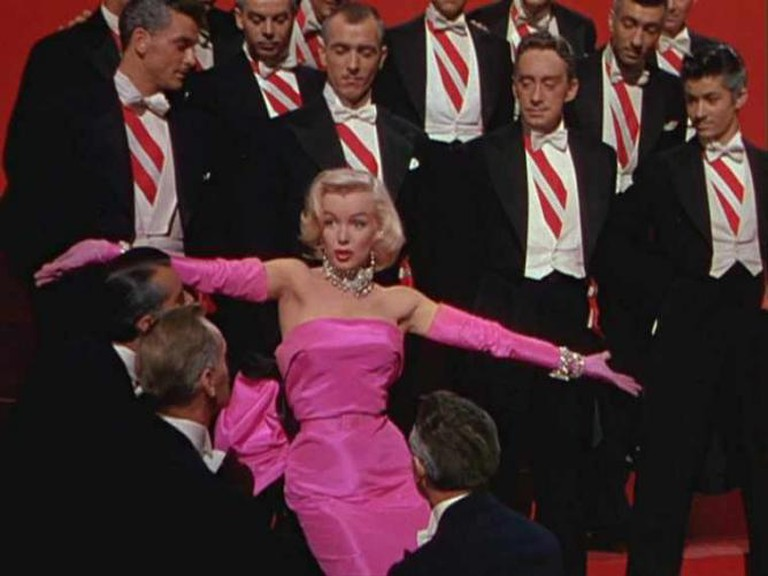 "Marilyn Monroe performing ""Diamonds are a Girl's Best Friend"""