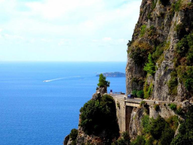 Strada Statale 163 on the Amalfi Coast | © David van der Mark/Flickr