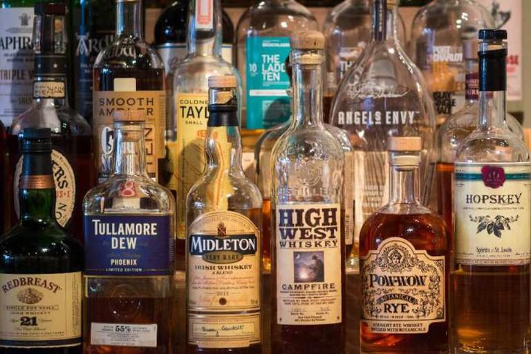 Whisky bottles © Matthew/Flickr