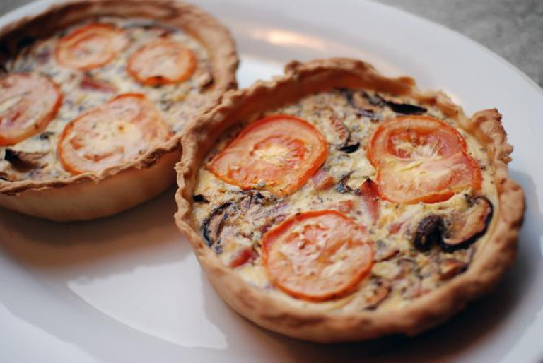 Rustic ham and mushroom quiche | © stephanie vacher/Flickr