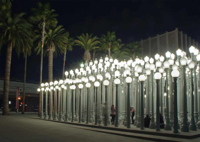 BP Grand Entrance is passed this Urban Light installation