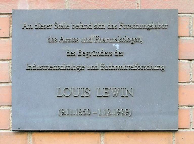 Plaque Honoring Louis Lewin