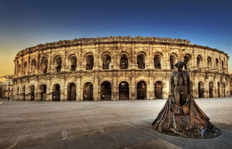 Torero, Nîmes arena