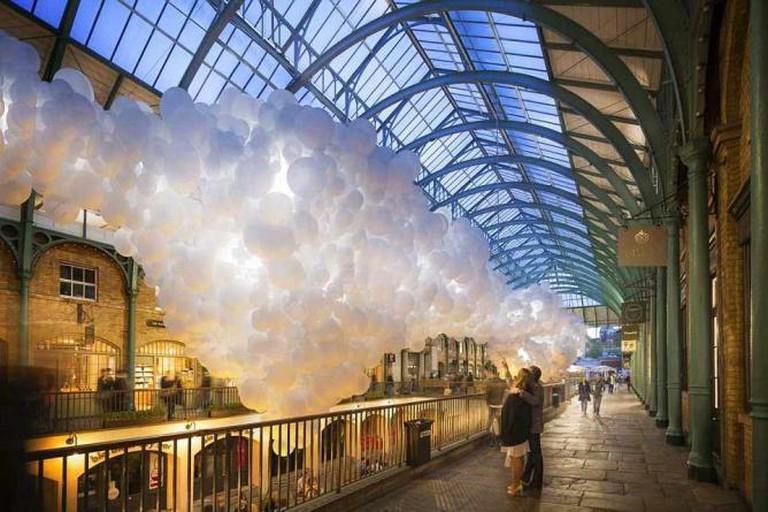 Balloons fill South Hall | © Hayes Davidson