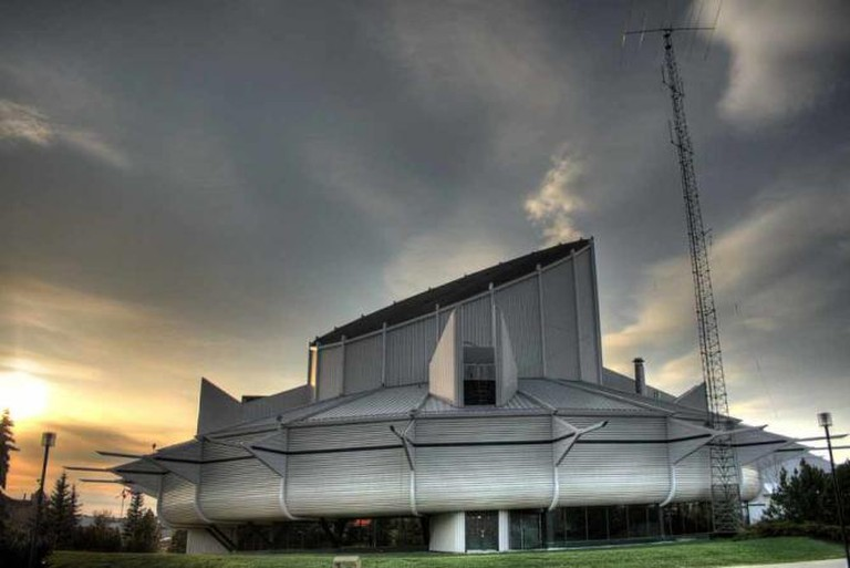 The main building of the Space and Science Centre in Edmonton, Alberta, Canada