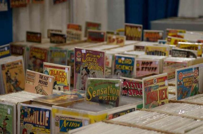 Vintage comic books   © mediatonicpr/Flickr photo credit  John Biehler