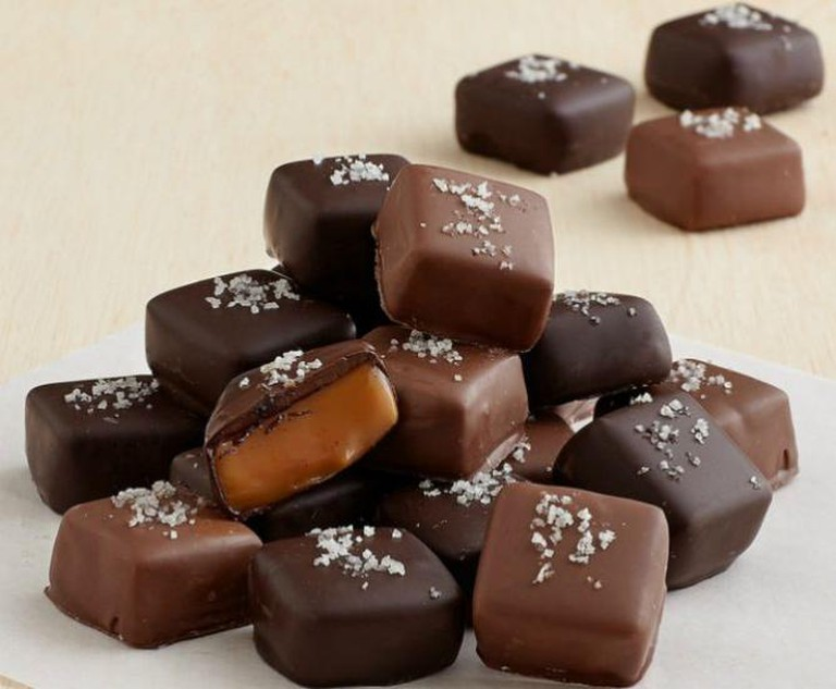 Handmade Chocolate covered Gray Sea Salted Caramels | © Shari's Berries/Flickr
